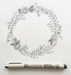"I'm back with my third post in the ""How to Draw"" series. (You can view the first two here and here.) I love drawing wreaths but I find myself feeling really overwhelmed when I sit down to draw one. Where do I start? What do I draw? Too sparse? Too full? Ok, well I'm breaking it down step by step today so if you're like me, you won't be overwhelmed any longer. But before we go any further, download your worksheet here. Your worksheet shows you the collection of botanical elements in thi..."
