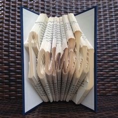 friend Gift For Book Lovers Initials Letter G Folded Book Book Worm Booklover