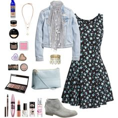 spring fling by annakillerangel on Polyvore featuring H&M, Maybelline, NYX and Rimmel
