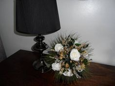 Your place to buy and sell all things handmade Dried Flower Bouquet, Dried Flowers, Silk Roses, Green Satin, White Silk, Lavender, Winter, Wedding, Etsy