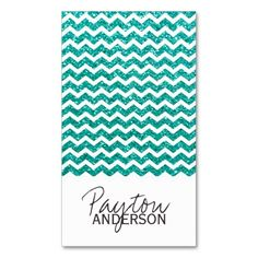 Modern Chevron Business Card Template created by Colourful Designs Inc.