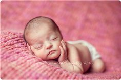 How cute!  How do people get newborns to do this?  I've had two newborn sessions and they won't do this!!