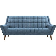 Buy Unique Bargains Demesne Mid-Century Modern Sofa By Corrigan Studio Mid Century Couch, Mid Century Modern Sofa, Contemporary Home Furniture, Soft Seating, Wicker Furniture, Steel Furniture, Antique Furniture, Furniture Ideas, Sofa Upholstery