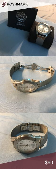 Vince camuto mens watch Never worn. Silver mens watch. AUTHENTIC Vince Camuto Accessories Watches