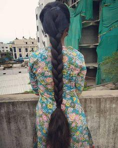 Indian Long Hair Braid, Braids For Long Hair, Indian Hairstyles, Bride Hairstyles, Indian Art Gallery, Super Long Hair, Beautiful Long Hair, Hair Beauty, Long Hair Styles