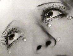 """Man Ray  """"Larmes""""   (Tears)  Gelatin silver print  c. 1934, Image from:  """"Man Ray 
