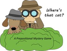 Where's That Cat? Prepositions of Place product from The-Hodge-Podge-Teacher on TeachersNotebook.com. Free!