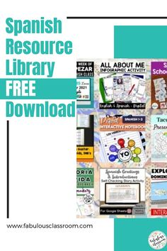 Do you need a little help getting ready to head back into the classroom? Don't worry, we've got you covered! This amazing Back to School Resource Library for Secondary Spanish has 27 resources, perfect for back to school! There is also an Elementary Resource Library, as well as a surprise you do not want to miss! #teacher #teaching #backtoschool #education #teachers #spanishteacher #spanishlessons #spanishlearning Spanish Teaching Resources, School Resources, Teaching Materials, Teacher Resources, Homeschooling Resources, Spanish Lesson Plans, Spanish Lessons, Lesson Plan Templates, Spanish Teacher