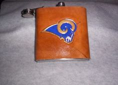NEW St Louis Rams Tooled Leather 6oz Flask ON SALE by wynnsleather, $18.00
