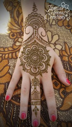 mandala cuff henna  www.JamilahHennaCreations.com