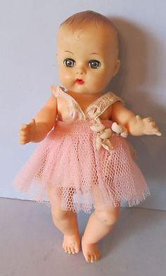 "SWEET 8"" VOGUE GINNETTE BABY DOLL CLONE WEARING PINK SATIN & NET DRESS"