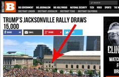 Breitbart Gets Busted For Inflating Trump's Rally Turn Out With This Hilariously Fake Picture