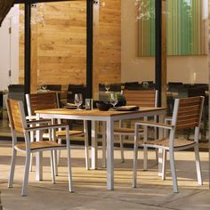 Outdoor Oxford Garden Travira Teak Patio Dining Set - Seats 4 - OG091