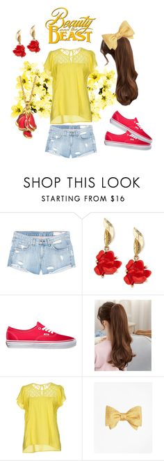 """""""Disney's Belle Inspired"""" by mysticunicorn on Polyvore featuring rag & bone/JEAN, Oscar de la Renta, Vans, Grace & Mila, Disney Couture and Brooks Brothers"""