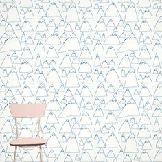 Les papiers peints les plus inspirants pour une chambre d'enfant / Papier peint Mountains (Fine Little Day)