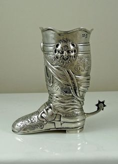 Antique Silver Stirrup Cup in the form of a Boot - London 1899