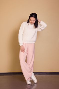 Excellent Listener Knit and pink pants