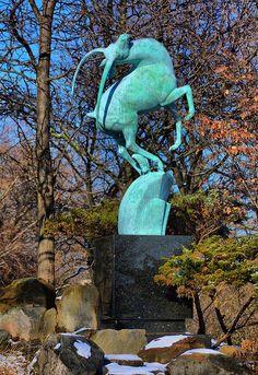 Leaping Gazelle, Detroit Zoological Park, Huntington Woods, MI