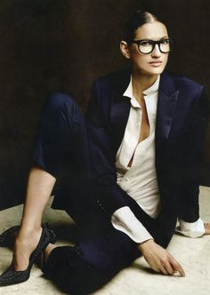 The idea of a uniform is like a slow and painful death to me.  There is nothing I like more than getting dressed.  jenna-lyons