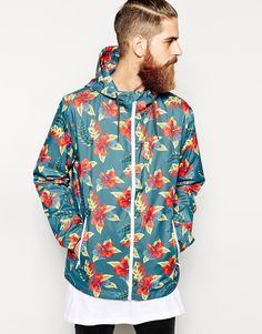 QUICKSILVER Floral Windbreaker Jacket