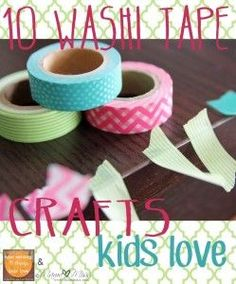 10 Washi Tape Crafts Kids Easy Activities To Help Keep The Kids Busy This Mess Free Crafts Kids Love Preschool Arts And Crafts, Fun Crafts, Activities For Kids, Paper Crafts, Tapas, Diy For Kids, Crafts For Kids, Craft Kids, Kids Fun