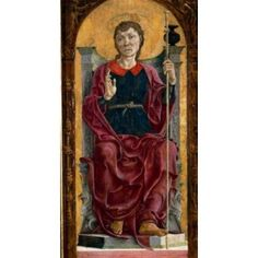 St James by Cosme Tura (c 1431-1495) Caen Musee des Beaux-Arts Canvas Art - Cosme Tura (24 x 36)
