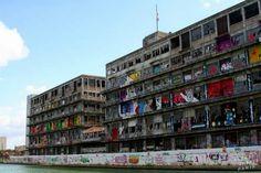 Graffiti at Canal de L'Ourcq (France)