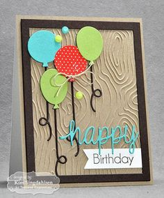 Rustic Birthday Balloons by atsamom - Cards and Paper Crafts at Splitcoaststampers