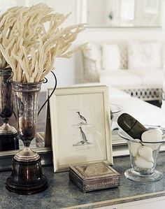 trophy + coral + antique silver