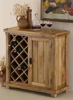 Baku Light Mango Wine Cabinet from the Baku Light Solid Mango range