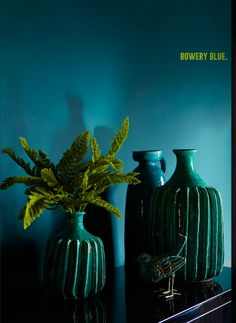 bowery blue paint by abigail ahern, intense, sophisticated and super glam Interior Design Inspiration, Color Inspiration, Abigail Ahern, Deco Addict, Dark Walls, Diy Décoration, Unique Lamps, Blue Tones, Colour Schemes