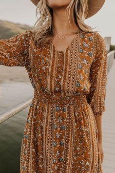 Trendy dresses summer - Floral Print Maxi Dress Boho Dress for Women – Trendy dresses summer Boho Style Dresses, Modest Dresses, Fall Dresses, Elegant Dresses, Boho Dress, Dress Skirt, Boho Maxi Dresses, Dresses For Summer, Hippy Dress