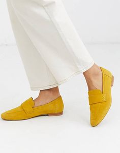 Browse online for the newest ASOS DESIGN Motion suede loafers in mustard styles. Shop easier with ASOS' multiple payments and return options (Ts&Cs apply). Block Heel Ankle Boots, Platform Ankle Boots, Leather Ankle Boots, Leather Heels, Asos, Suede Loafers, Loafer Flats, Sneaker Heels, Sneakers