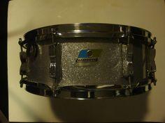 Vintage Ludwig Snare Drum Silver Sparkle Over Wood B Amp O Badge 5 x 14 | eBay