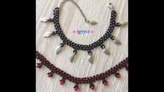Seed Bead Tutorials, Beading Tutorials, Tassel Necklace, Beaded Bracelets, Seed Beads, Arts And Crafts, Chokers, Knitting, Jewelry