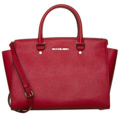 MICHAEL Michael Kors Handbag scarlet (23.265 RUB) ❤ liked on Polyvore featuring bags, handbags, accessories, purses, red, real leather purses, man bag, red leather handbags, michael michael kors handbags and red purse