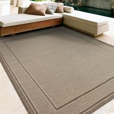 Buying an area rug is a fantastic way to add color, warmth and comfort to any room or office space, as well as gain some of the benefits of carpet. Outdoor/Indoor Woven Rug - Beige & Brown. They can protect floors from unwanted movement of furniture & chairs or even hide that annoying stain you just can't seem to get rid of. | eBay!