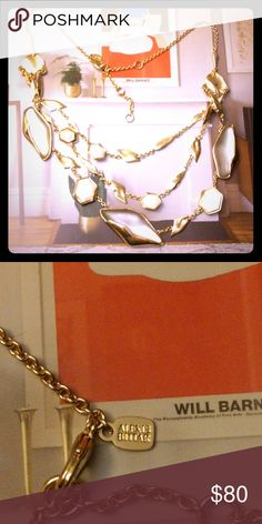 Alexis bittar multi layers lucite Lucite gray link Gold tone ,new  three layers new Alexis Bittar Jewelry Necklaces