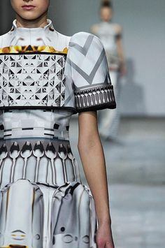 MARY KATRANTZOU FALL 2012. There is no spoon.