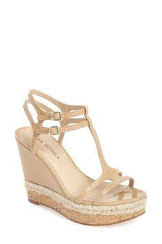Via Spiga Meza Leather Dual Ankle Strap Platform Wedge