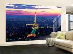 Paris Lights Eiffel Tower Wallpaper Mural at AllPosters.com