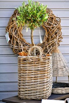 Photo: ARATORP#basket#wicker basket#planter