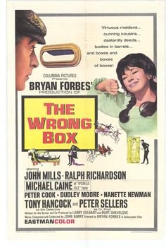 Based on a novel by Robert Louis Stevenson, The Wrong Box is perhaps unsurpassed when it comes to gallows humour; like Arsenic and Old Lace with a sharper satiric edge.