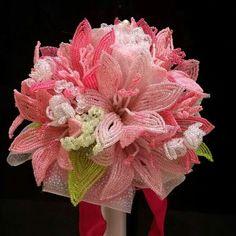 Beading pink flowers