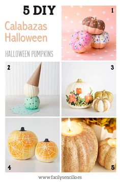 5 DIY PARA CALABAZAS DE HALLOWEEN ORIGINALES by facilysencillo.es