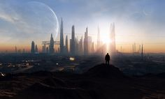 This is Part 2 of an experiment in science-fiction prototyping, in which I try to envision the future by examining the best ideas from 100 sci-fi novels. Nearly every vision of the future I've come… Sci Fi Wallpaper, City Wallpaper, 1920x1200 Wallpaper, Future City, Arquitectura Wallpaper, Sci Fi Stadt, Sci Fi City, Space Artwork, Bird Artwork