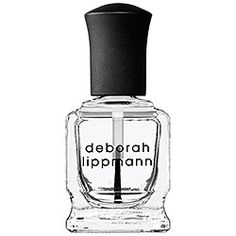 """Deborah Lippmann  Addicted To Speed Top Coat, A super quick-drying top coat for nails. """"I've been using Seche Vite for a while now, but realized that it shrank my polish so much. This top coat is about triple the price, but it's worth it! I do my own nails, and change polish about once a week. I went a full week without any chips, or tip wear. My nails stayed glossy the whole time."""""""
