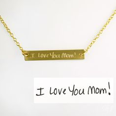 gift for her anniversary necklace mom necklace date necklace Bar Necklace Name necklace inspirational necklace family necklace