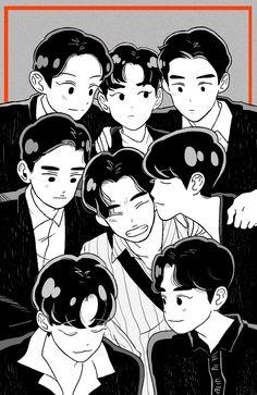 Exo Anime, Exo Merch, Exo Lockscreen, Exo Fan Art, Cute Patterns Wallpaper, Kpop Exo, Kpop Fanart, Drawing Reference, Chibi
