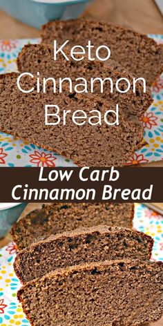 This Low Carb Cinnamon Bread Recipe is the perfect Keto Breakfast to start your . - This Low Carb Cinnamon Bread Recipe is the perfect Keto Breakfast to start your day! The perfect match to your Bulletproof Coffee! Keto Diet List, Starting Keto Diet, Ketogenic Recipes, Low Carb Recipes, Diet Recipes, Slimfast Recipes, Bread Recipes, Coffee Recipes, Coffee Bread Recipe